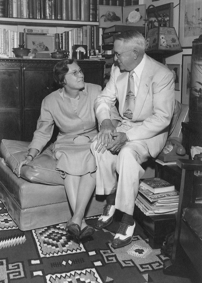 Nelda C. Stark and her husband, H.J. Lutcher Stark. Courtesy of the Stark Foundation website.