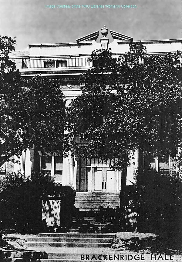 Brackenridge Hall: Picture taken after 1935 due to the additional 4th floor in the photograph.