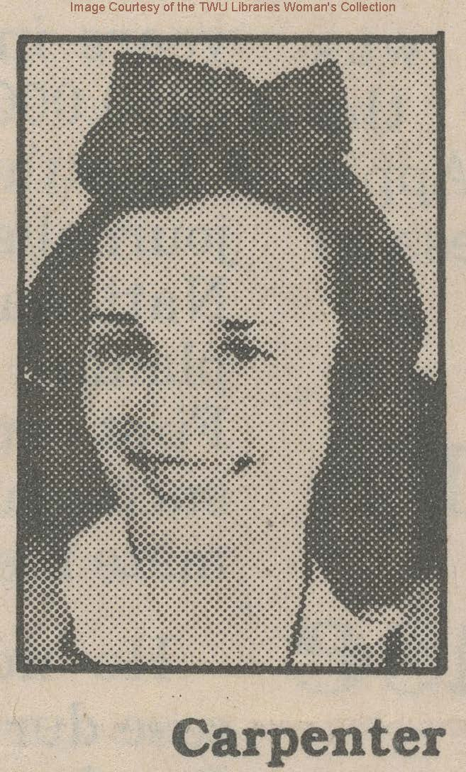 """Mary Virginia """"Jimmie"""" Carpenter: Disappeared in 1948, and last seen outside of Brackenridge Hall."""