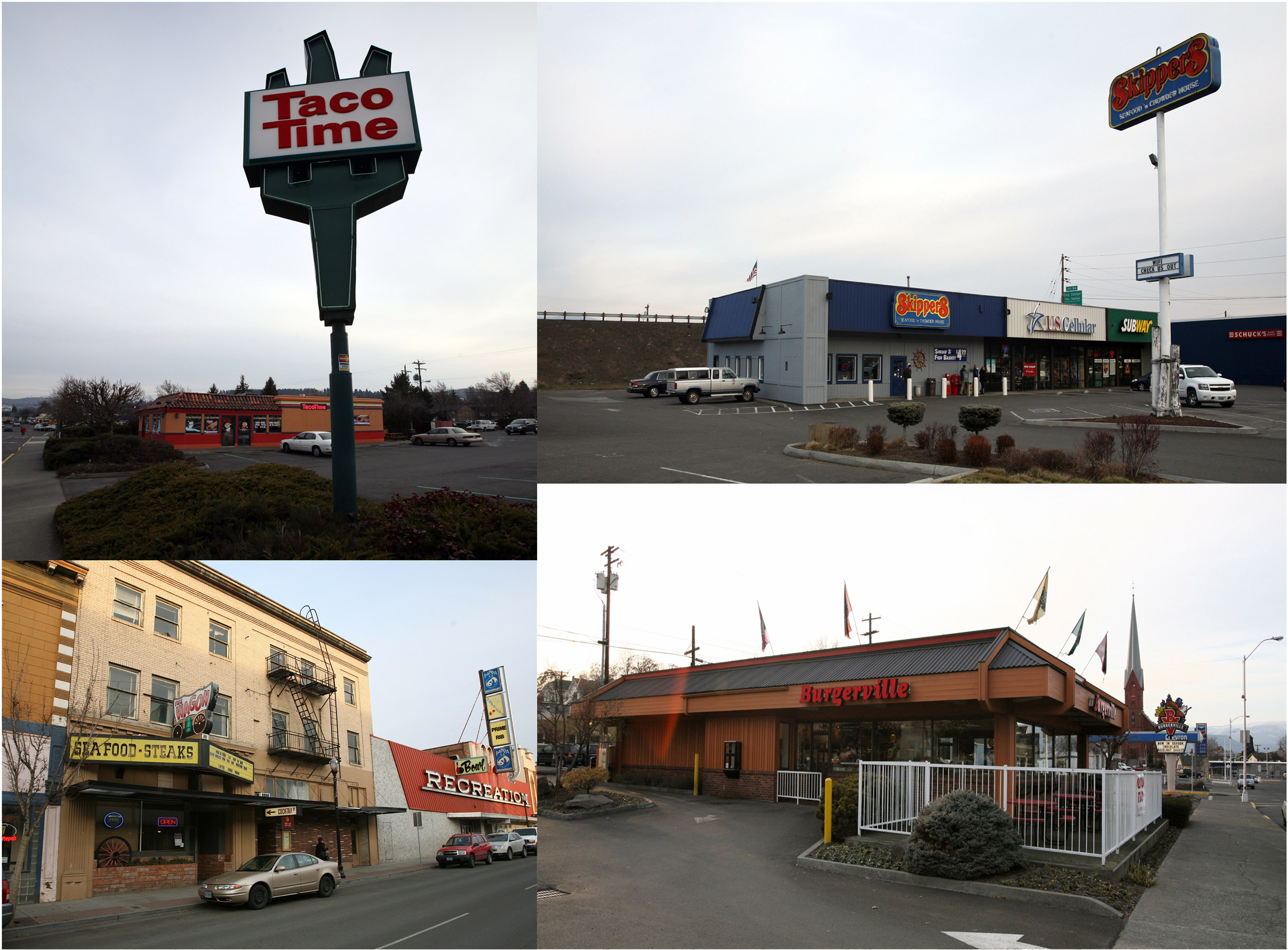Some of the restaurants contaminated in The Dalles, Oregon