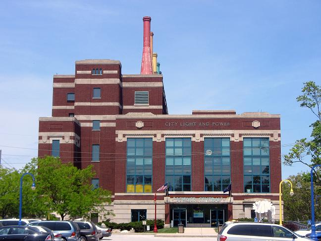 Science Central is a science museum housed inside the old City Light & Power station.