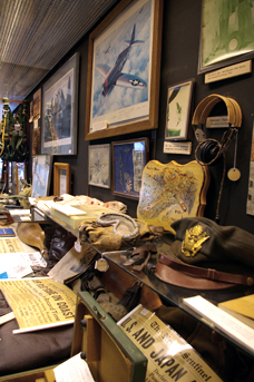The museum features many aviation-related items on display.