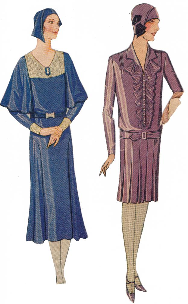 Women's fashion magazines carried the latest trends alongside sewing tips and cut out paper dolls- pictured here.