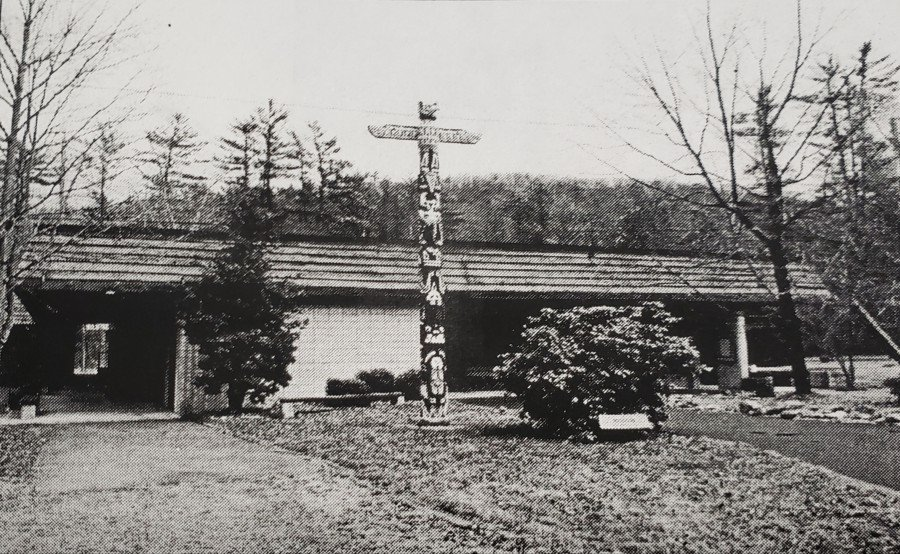 """Totem Pole Playhouse"" from Interpretive Plan: Lincoln Highway Heritage Corridor, Volume II, July 2000. [11]"