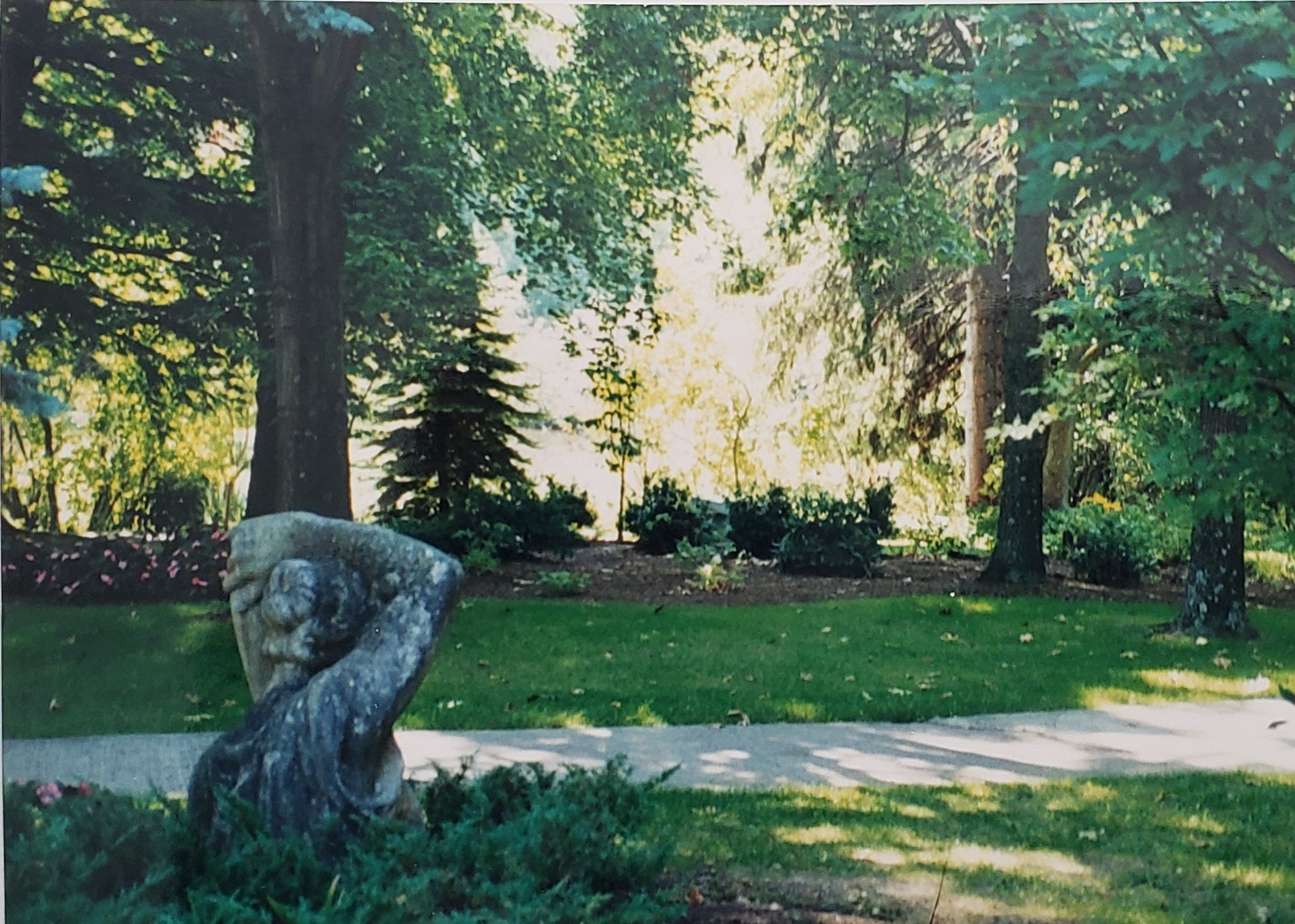 There are numerous sculptures that Stoughton collected throughout the grounds at Green Gables.