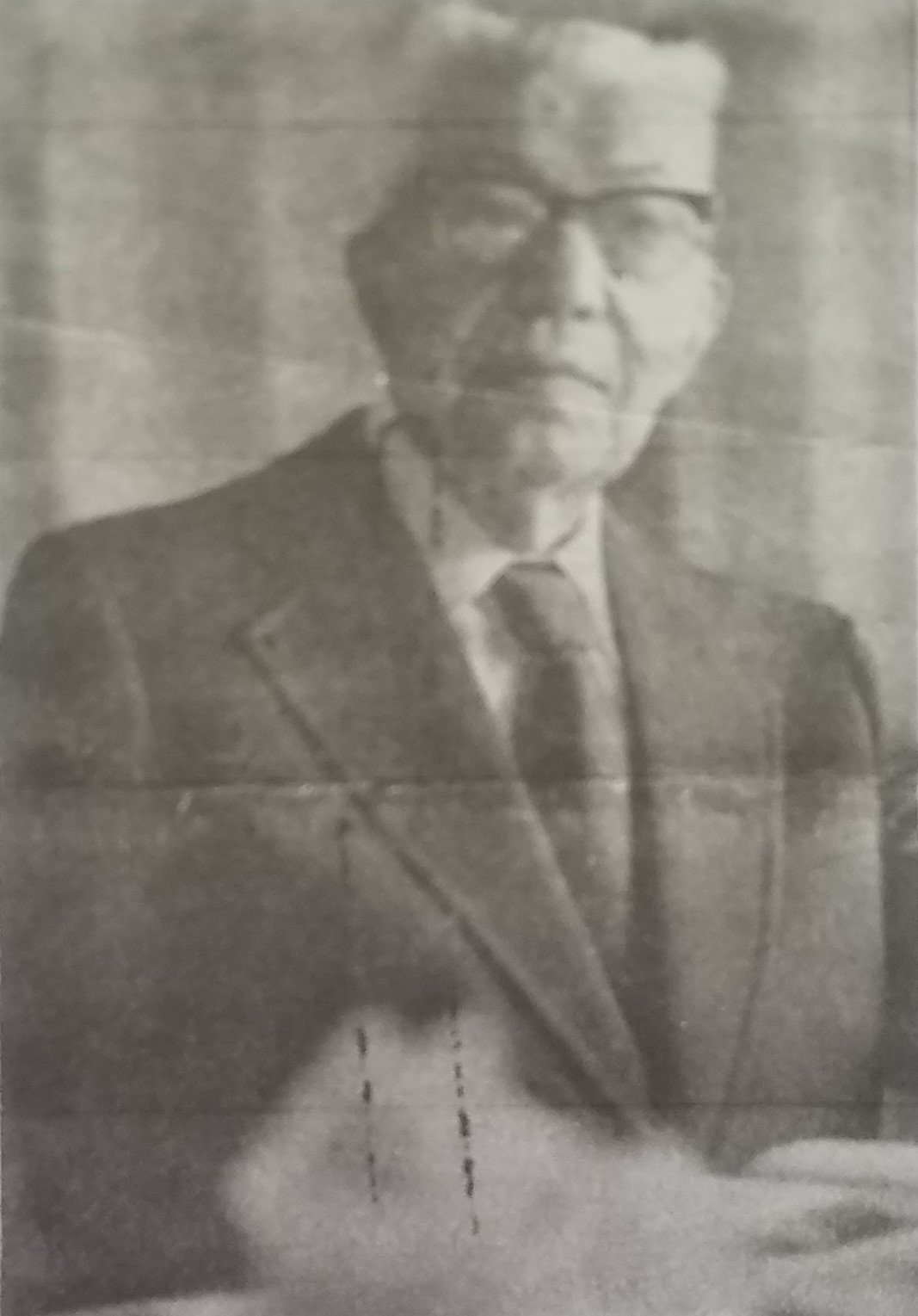 Photo of Captain Herbert Paulson in 1973. Photo taken from a newspaper courtesy of the Lincoln Highway Heritage Corridor.