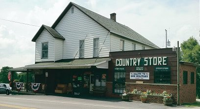 Outside view of Duppstadt's Country Store, as seen from the Lincoln Highway.