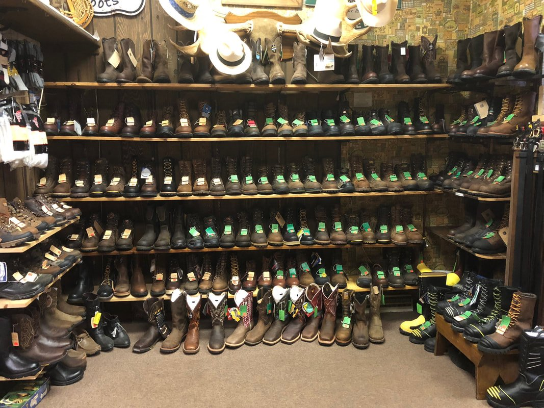There is a wide selection of work and western boots at Duppstadt's Country Store.