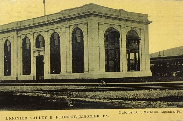 A view of the Ligonier Valley Rail Road Depot. This location of the railroad is what determined the placement of Idlewild in Ligonier, PA.