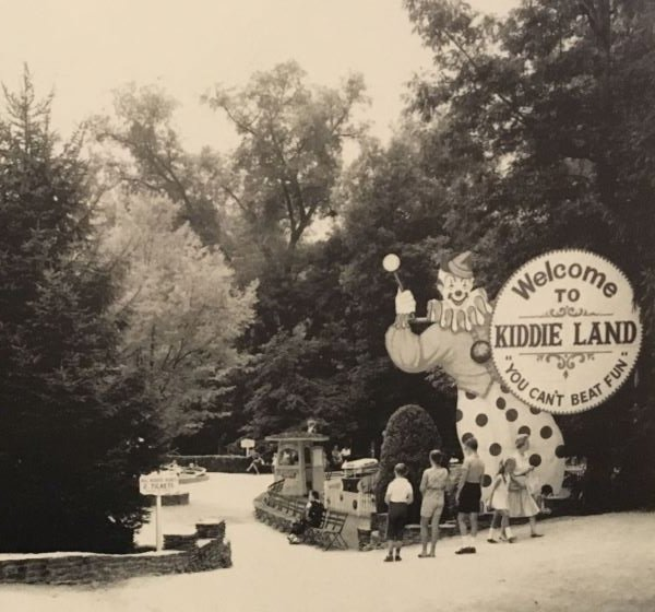 "The entrance to ""Kidde-Land,"" C.C. Macdonald's first step in changing Idlewild's audience to families and small children. The tag-line for Idlewild during this time became ""You can't beat fun!""