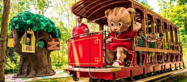 "A scene from the 2015 opening of the ""Daniel Tiger's Neighborhood"" attraction. It is based off of Fred Rogers Company's Daniel's Tiger Neighborhood, the first show to be based off of Rogers' original neighborhood show.
