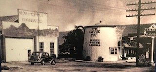 The Coffee Pot sat next to the Pebble Garage functioning as a bar. The coffee pot went through many different uses throughout its lifetime.