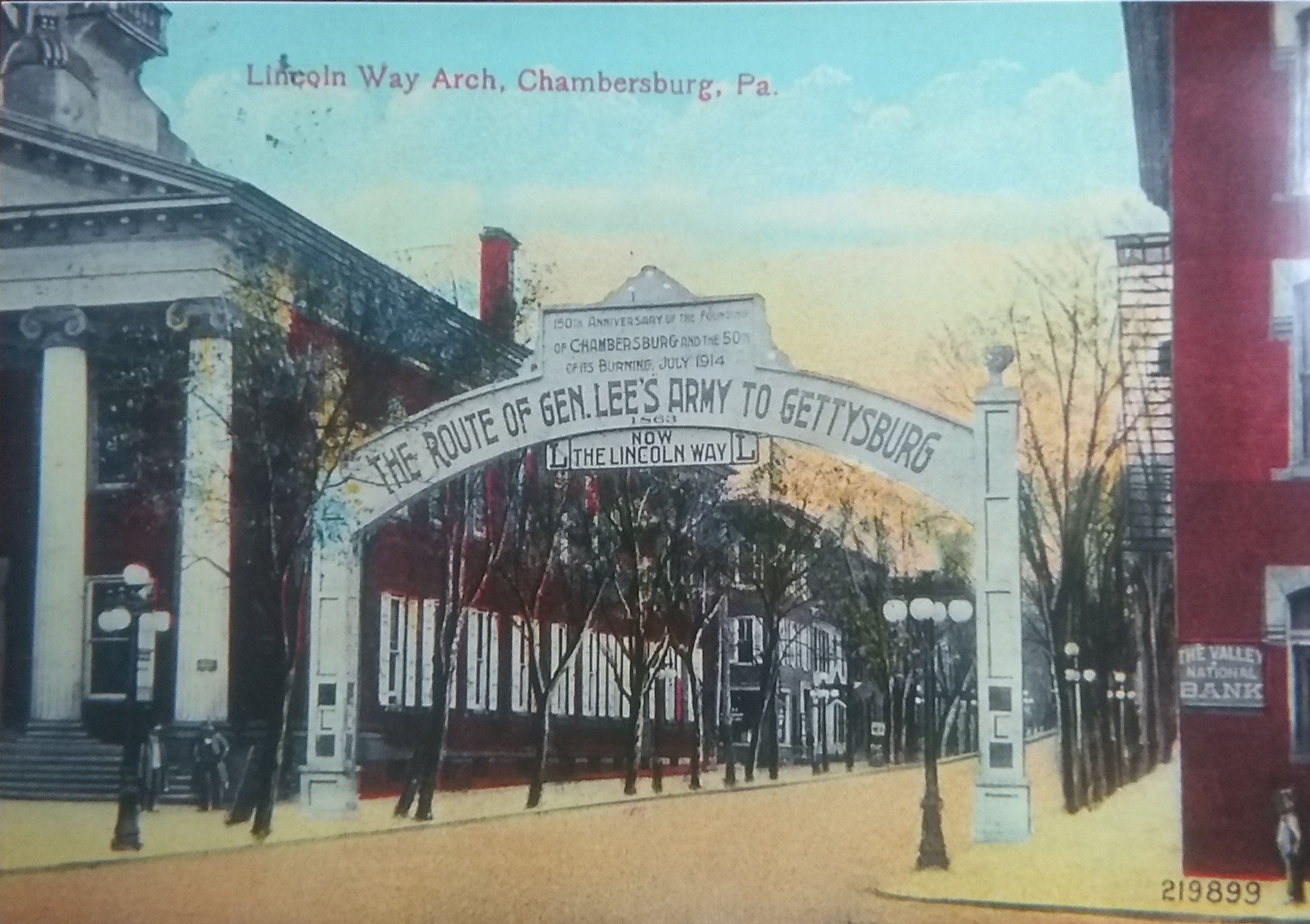 The Lincoln Way Arch in downtown Chambersburg shows that the Capitol Theatre is built in a town with historical significance. Photo Courtesy of Lincoln Highway Heritage Corridor.