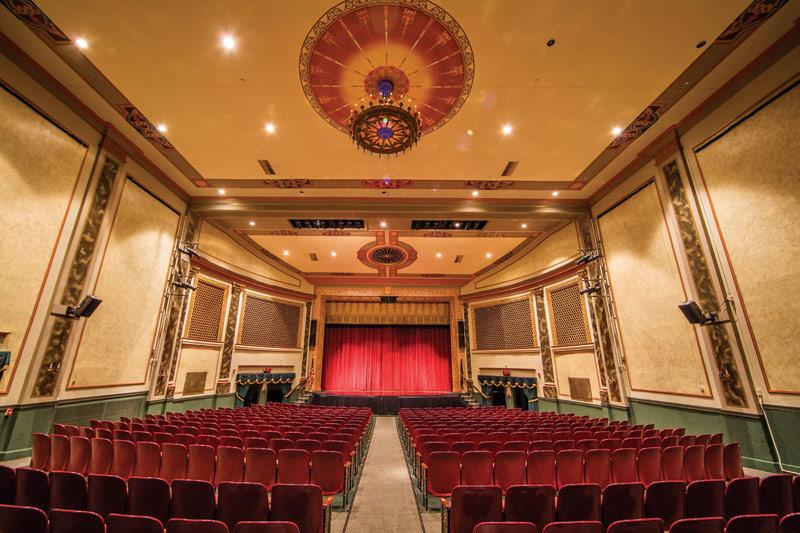 The Capitol Theatre's 800 seat amphitheater shows the vivid elegance of the local community's cultural customs of the twentieth century. Photo Courtesy of Turner Photography Studio, Hagerstown Magazine.