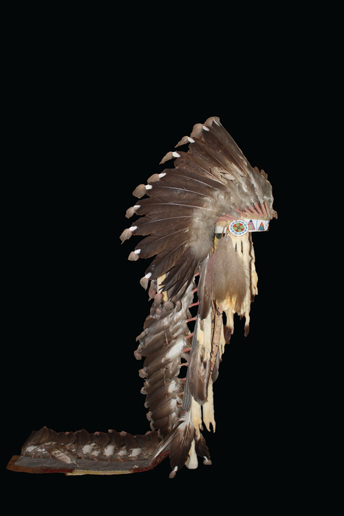 a headdress worn by the Native Americans