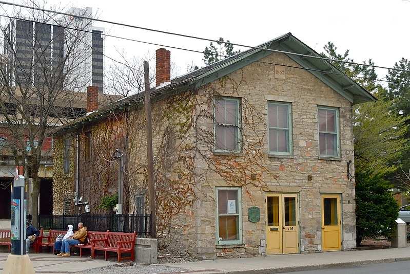 The John Brown Stone Warehouse was built in 1852 and is the oldest commercial building in the city.