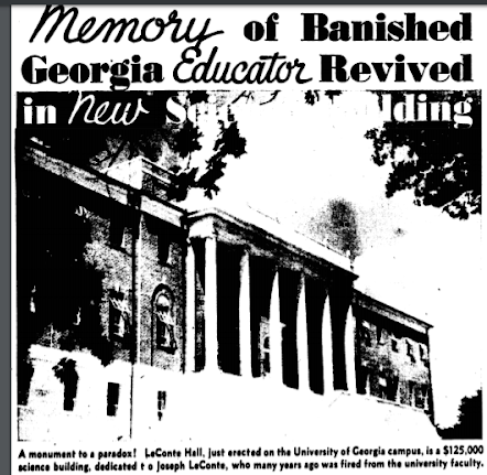 1937 Newspaper article from the AJC detailing the finished construction of the building along with the history of LeConte.