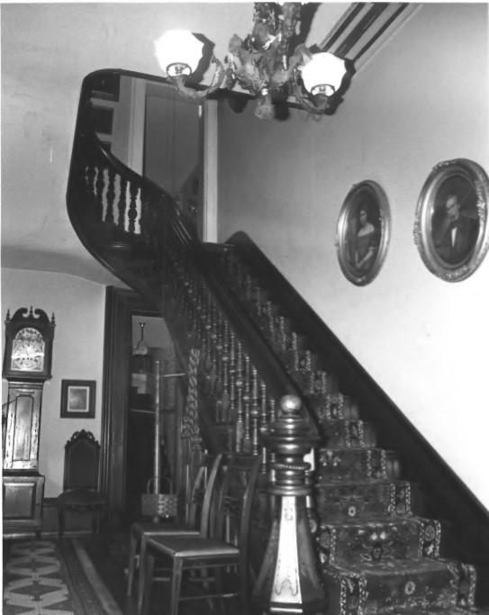 Entry staircase in Judge Cyrus Ball House (Harry Mohler 1982)