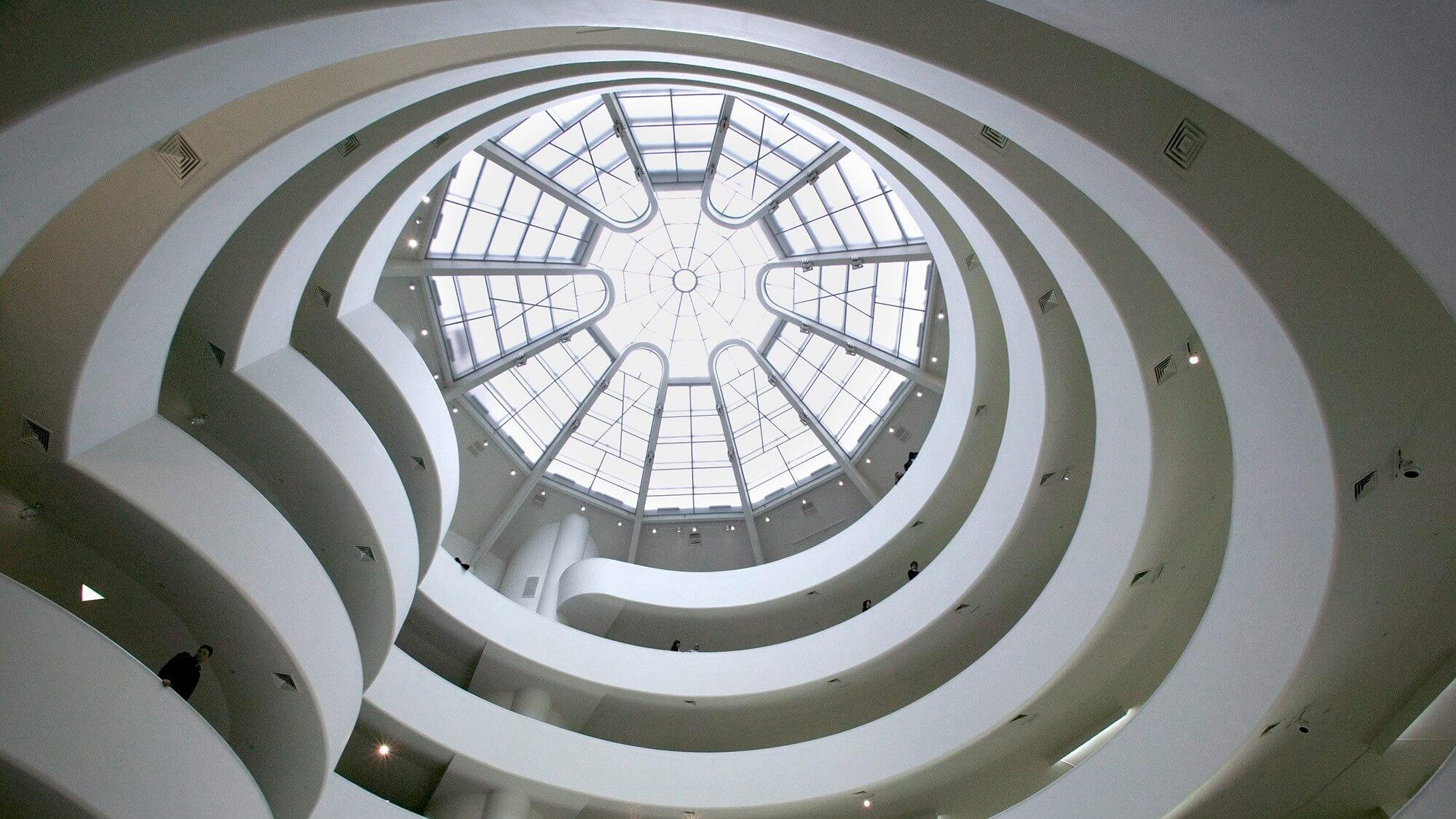 A view from the rotunda upwards.