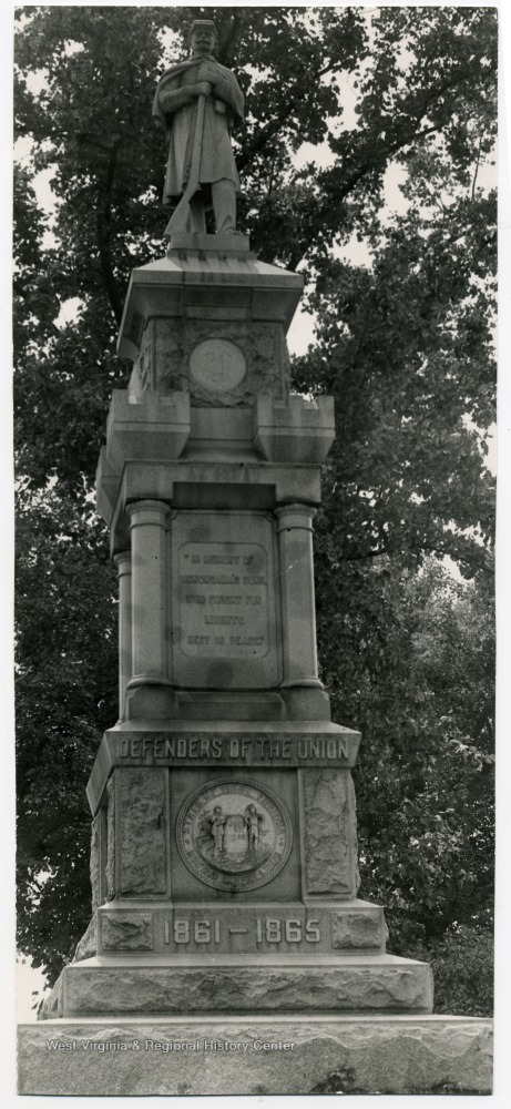 Civil War Monument in Oak Grove Cemetery, 1965