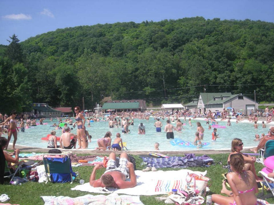 Family fun on a warm summer day in Ligonier Valley.  Visitors driving across the Lincoln Highway stop and spend the entire day swimming and enjoying the amazing weather.