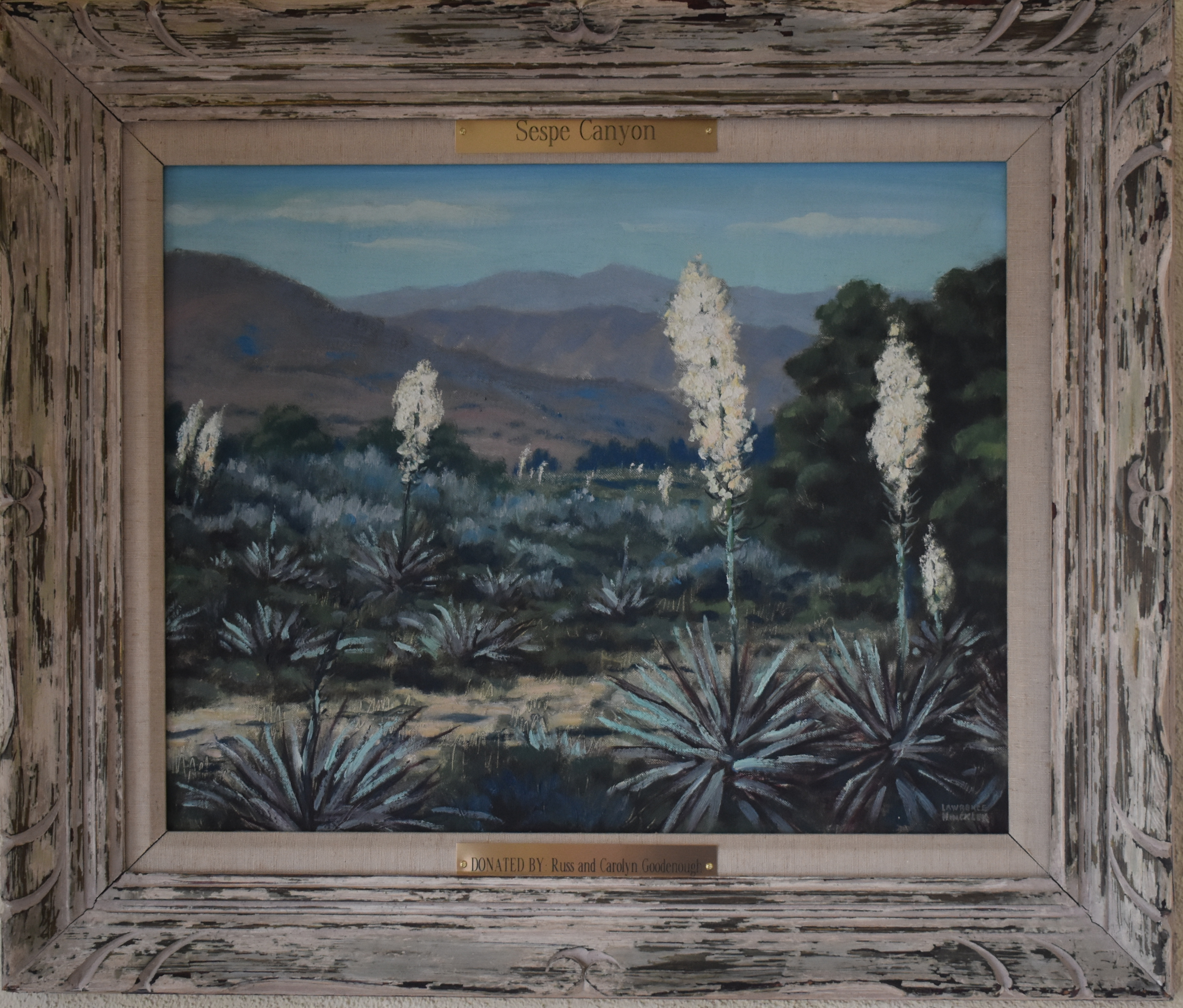 "Lawrence Hinckley Painting, """"Sespe Canyon"""