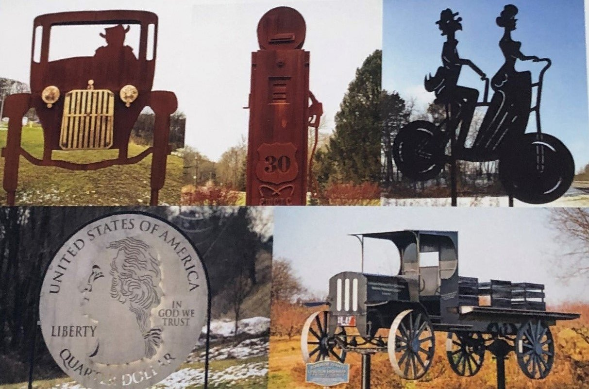 The following are photos of all 5 of these PA Roadside Giants which are located on the historic alignment of the Lincoln Highway.