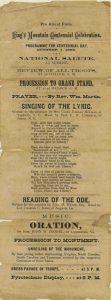 Program for the 1880 Commemoration