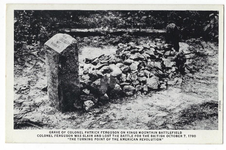 Postcard of Ferguson's grave in the 1910s