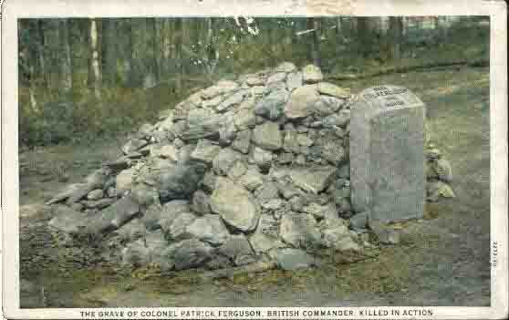 Postcard of Ferguson's grave in the 1920s, notice how much the rock pile has grown.