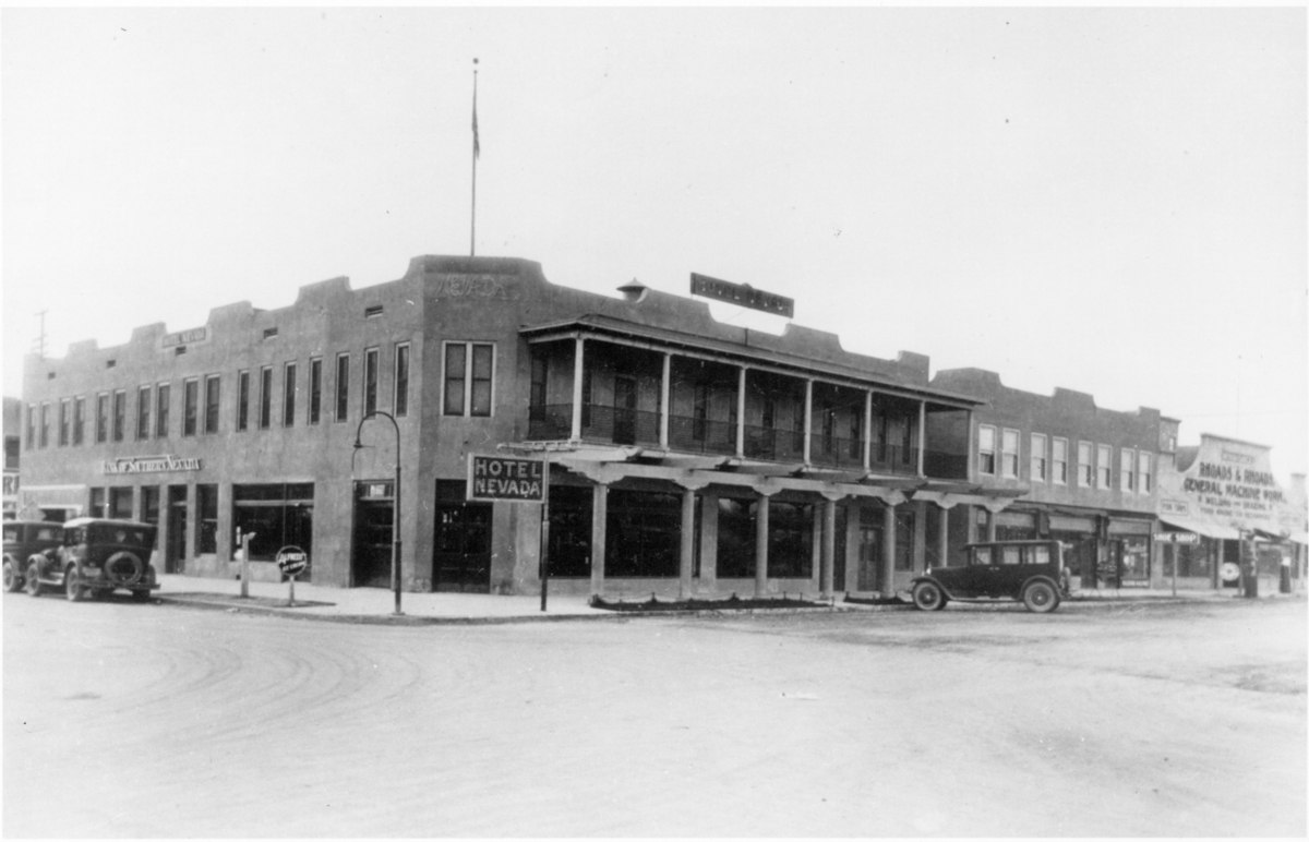 The original hotel opened in 1906 and is pictured in the circa 1920s photo.