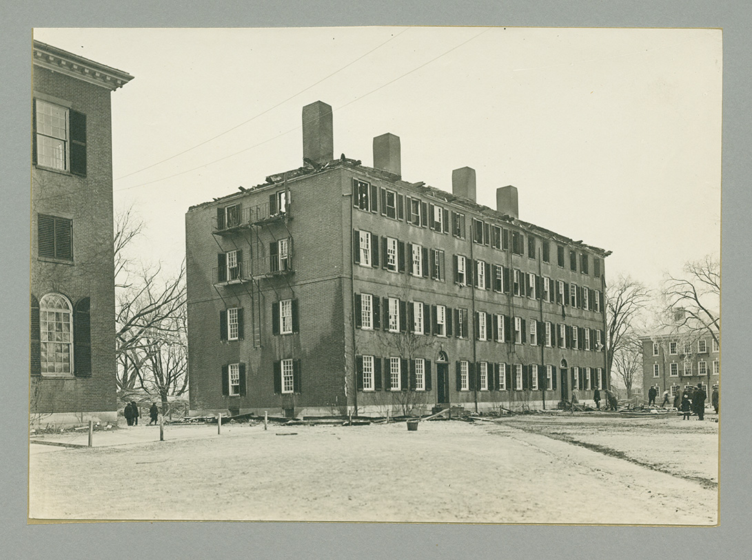 Bartlet Hall fire on December 8, 1914