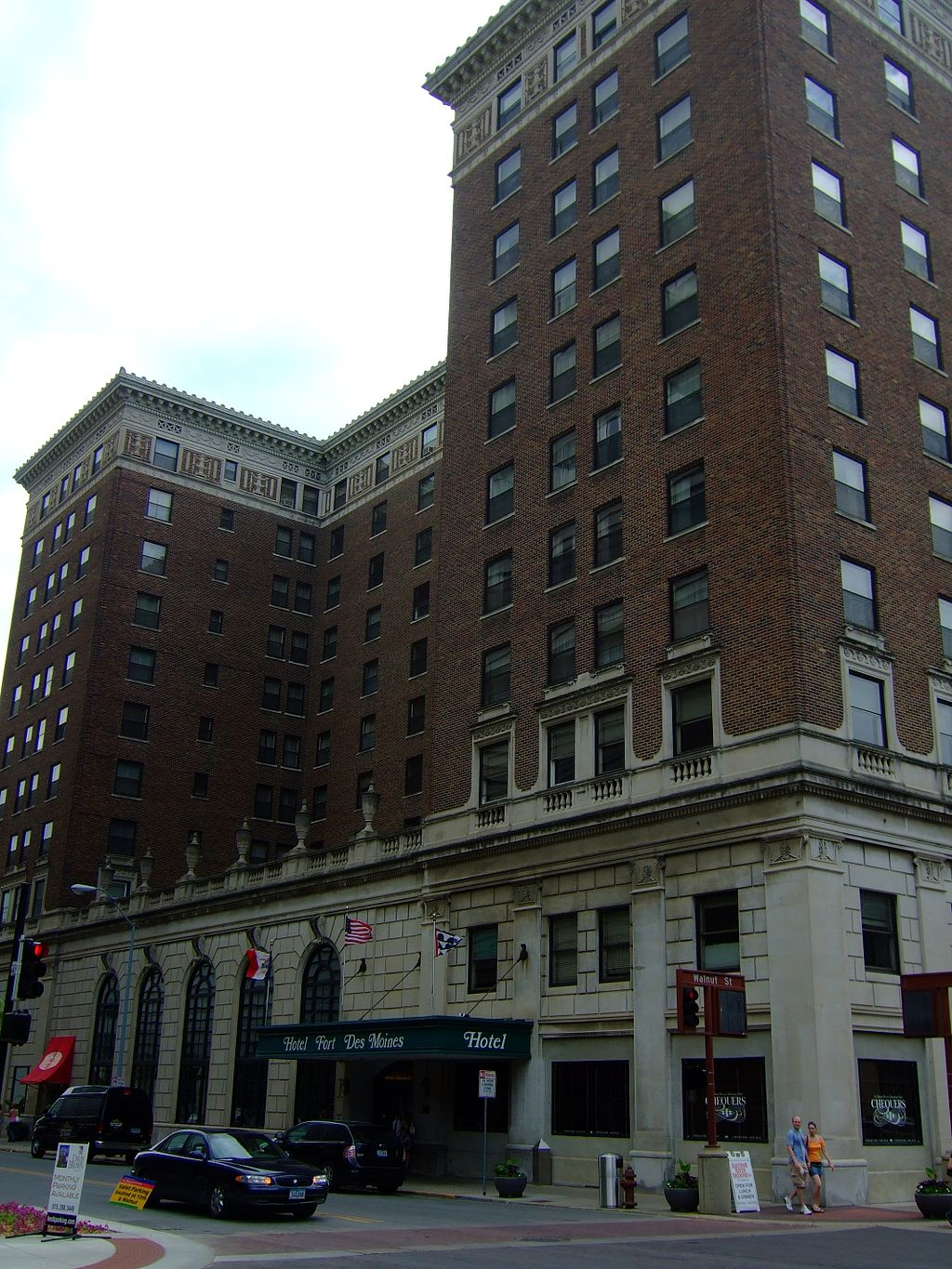 Hotel Fort Des Moines was built in 1919 and has remained a key landmark in the city's history.