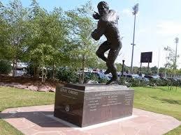 Steve Owens' Heisman Statue in Heisman Park.