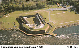 An aerial shot of the fort gives visitors an idea of the magnitude of influence those who occupied it had on the city of Savannah.
