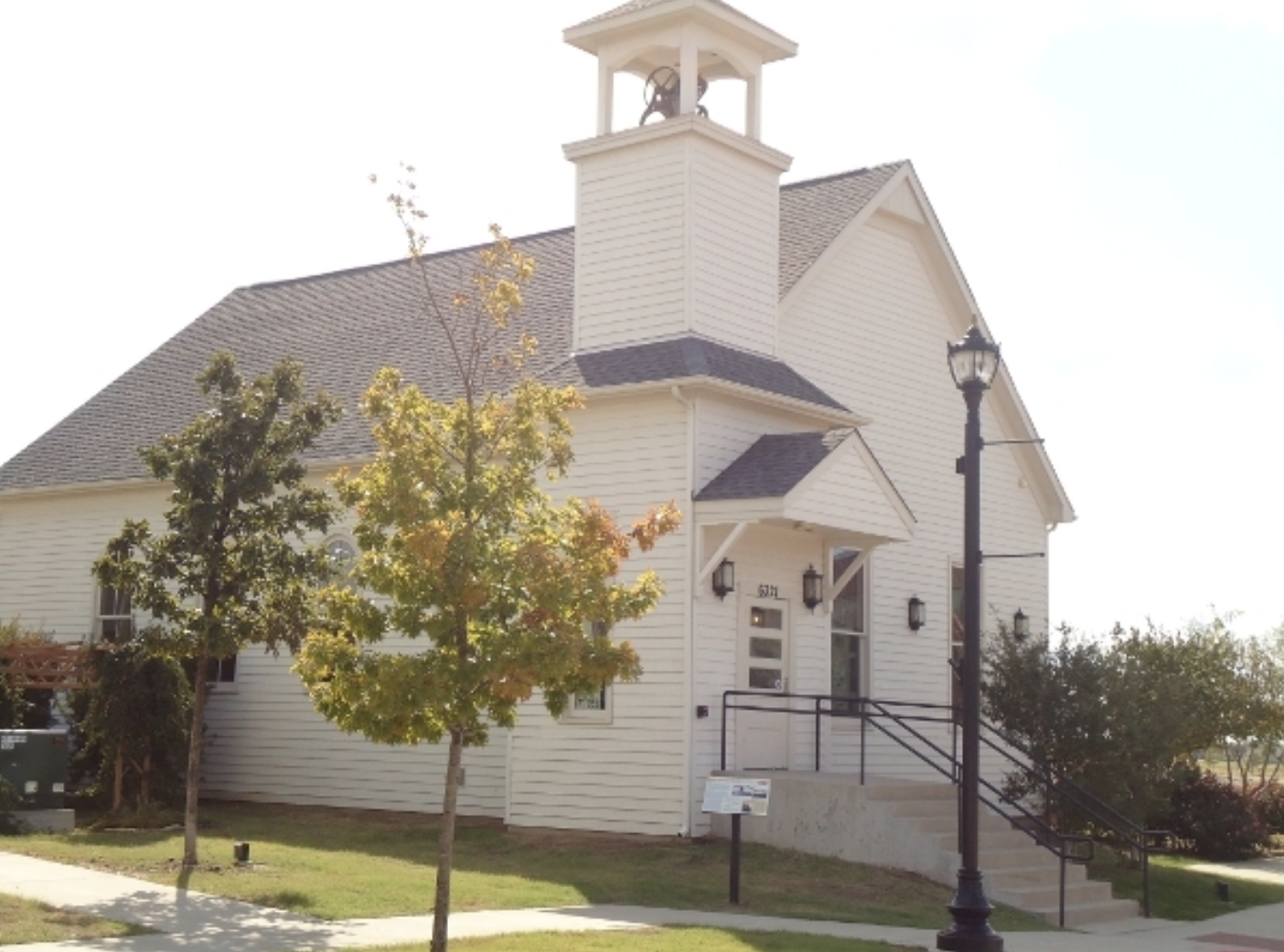 This is the Lebanon Chapel/Church that was donated to the city of Frisco and is used for special events. This is after renovations to the original structure.