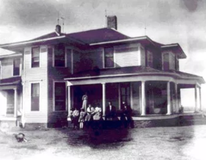 This is a drawing of the Smith-Muse House in the original location.