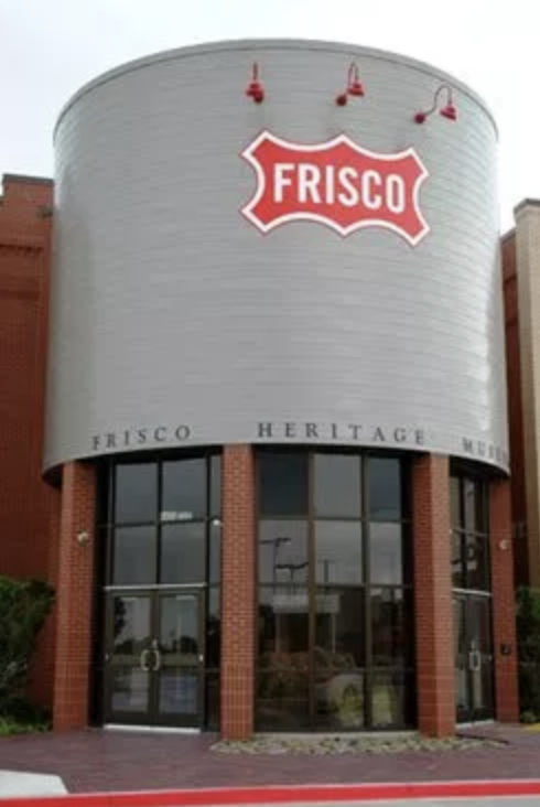This is the front entrance of the 18,000 square foot Frisco Heritage Museum.