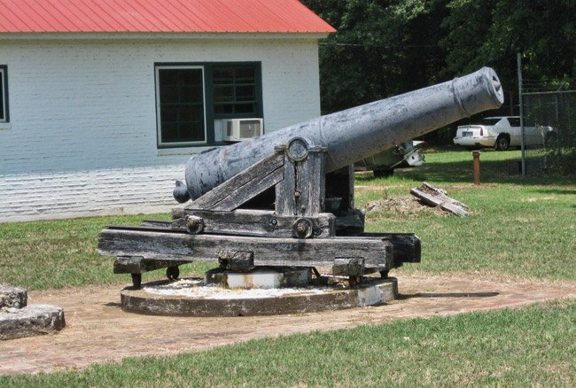 One of the cannons used during the battle