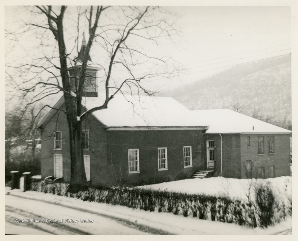 Kanawha Salines Baptist Church with the Sunday school addition, January 1934