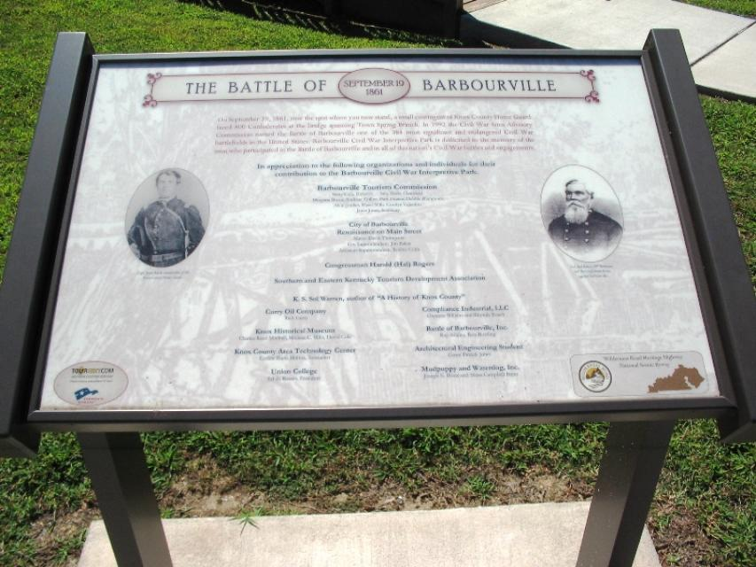 Historical Marker about the Battle of Barbourville