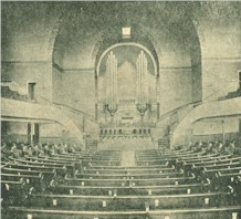 Church auditorium completed in 1891