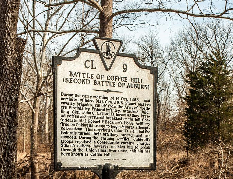 Marker for the second battle of Auburn.