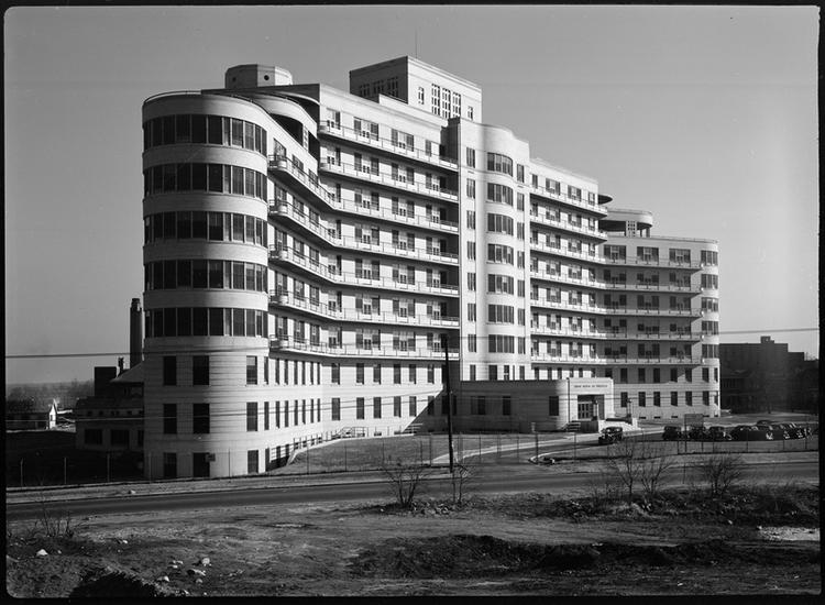 The Triboro Hospital as it appeared in the 1940s