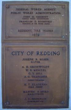Redding Fire House Plaque