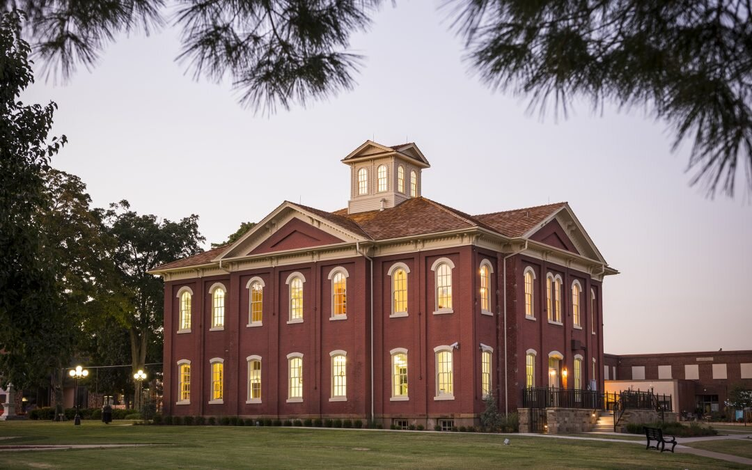 The Cherokee National History Building, Built in 1869