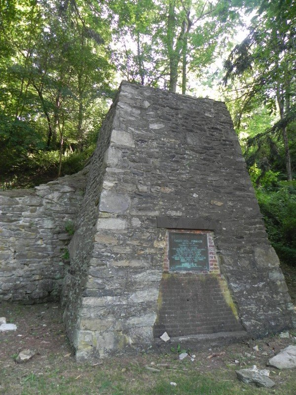 A reconstruction of Thaddeus Stevens' iron furnace can be found at the park (Image from stateparks.com).