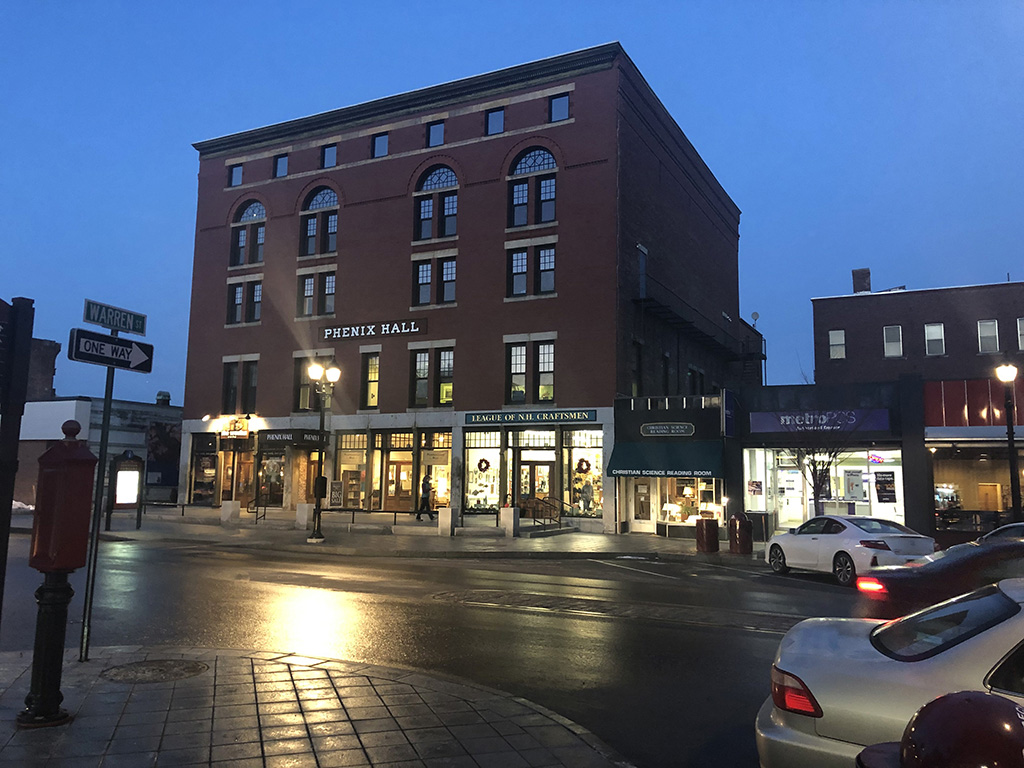 Modern image of the Phenix Hall, Concord, NH