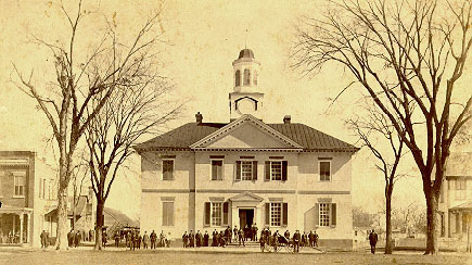 Chowan County Courthouse in Edenton, April 2, 1890. Courtesy of the North Carolina Collection, UNC Libraries