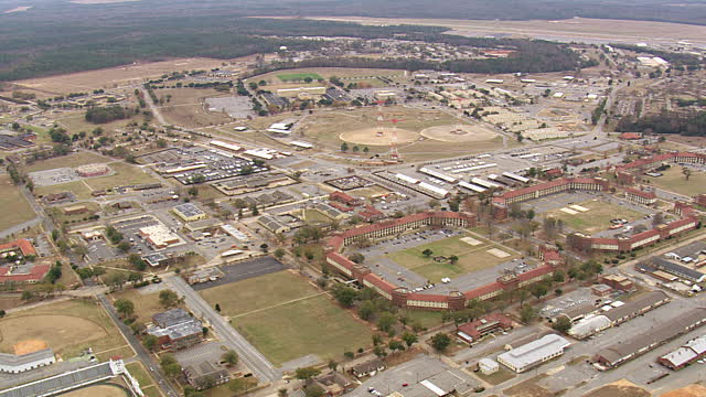 A recent aerial view of Fort Benning, which spans over 182,000 acres.